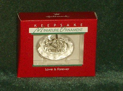 Hallmark 1988 Love is Forever - Miniature Ornament - NEW