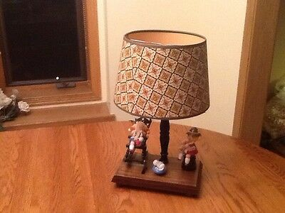 Vintage Nursery Lamp With Rocking Chair Musical 1980's