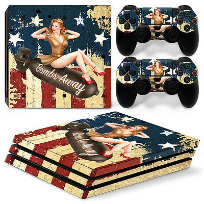p-0281 Decal- Sony Ps4 Pro Console And Controller Skins Battlefield 1