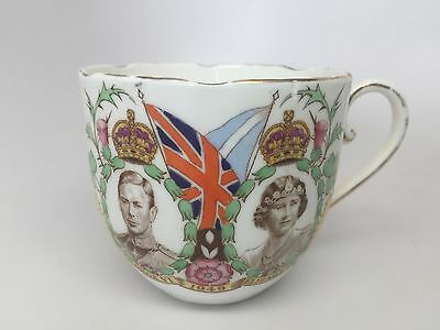 RARE 1949 Royal Grafton China Tea Cup George VI Elizabeth Royal Visit Australia