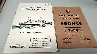 1960 - 1961 FRENCH CAR FERRY Brochures  RARE