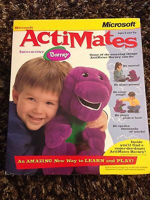 Interactive Barney THE DINOSAUR Actimates by Microsoft IN BOX Talks,Sings,Moves