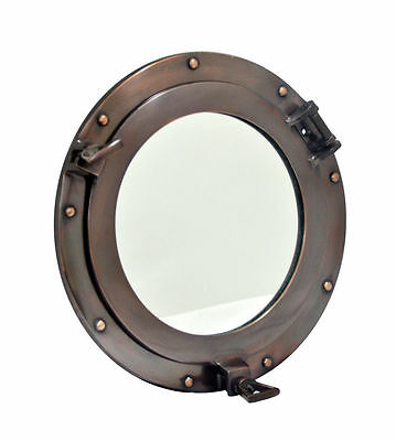 Aluminum Porthole Mirror copper finish Metal Gift Mirror Home & Office Décor10""