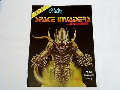1980 Bally Space Invaders Pinball 8 -Page Flyer / The Fully Ill. Story