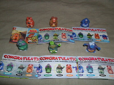 Yowies Series 6 COMPLETE SET of 6 MINI MEN YOWIE CHARACTERS * LIMITED EDITIONS