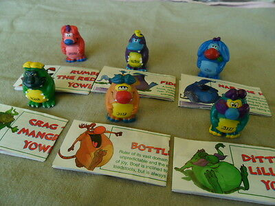 Yowies Series 1 COMPLETE SET of 6 YOWIE MEN * LIMITED EDITIONS