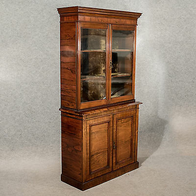 Antique Display Bookcase China Cabinet Fine Quality Rosewood Victorian c1900