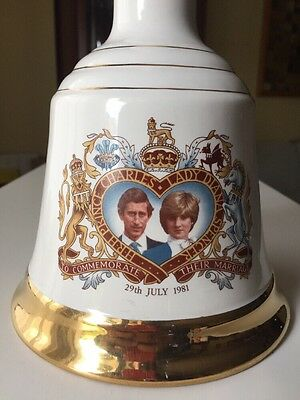 Charles & Diana Porcelain Bells Whisky Limited Edition