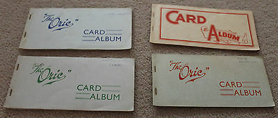 4  Vintage SWAP PLAYING CARD Paper ALBUMS BULK LOT  Scrapbook Trading Collection