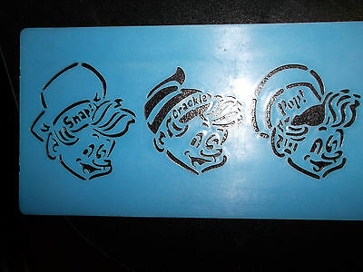 Collectible Vintage Advertising - Cereal - Kellog's Rice Krispies - Stencil Pad