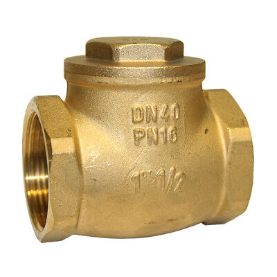 "BRASS SWING CHECK (NON-RETURN) VALVE BSPP - SIZES FROM  3/8"" To 4"" - RUBBER SEAT"