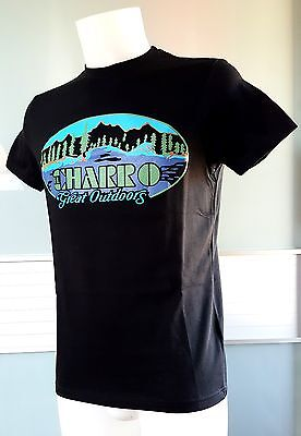 """el Charro"" T-Shirt Nero (Tg.s) Great Outdoors Anni 80 Style (Preppy Paninaro)"