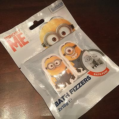 NEW MINIONS DESPICABLE ME BATH FIZZERS PACK OF 2 New Bath Products