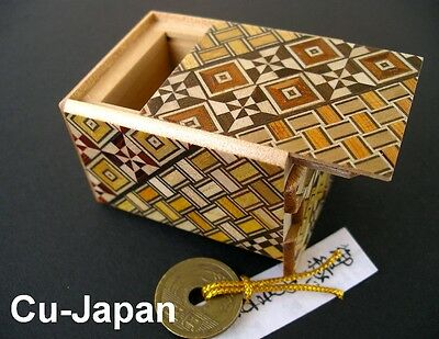 Japanese Puzzle Box - 2 Sun 7 Moves/Steps with a Good Luck Coin -SPECIAL EDITION