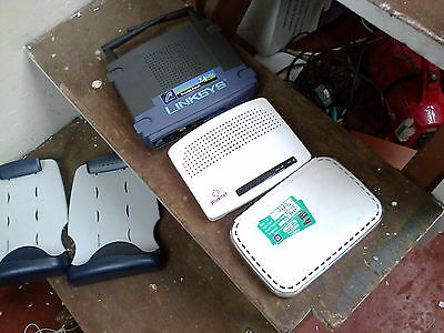 Job Lot Of 2 Router + 1 Access Point  - (R5)