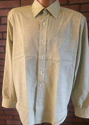 Vintage Mens 50's 60's SZ 16 Green Murrells Marion Indiana Dress Shirt Hathaway