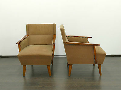 1 of 2 Vintage Art Deco Style Armchair Chair