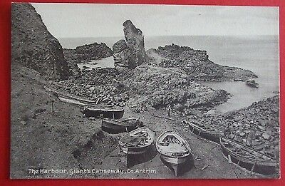 LAWRENCE Postcard c.1910 THE HARBOUR GIANTS CAUSEWAY Co.ANTRIM NORTHERN IRELAND