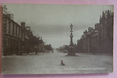 RP Postcard c.1920 HIGH STREET LOOKING EAST INVERGORDON ROSS & CROMARTY SCOTLAND