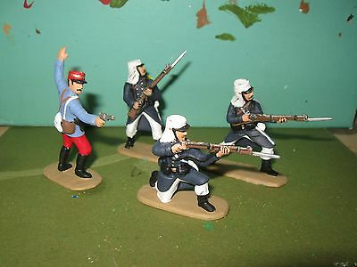 4 X French Foreign Legion North Arfica 1900,  1/32Nd Painted Soldiers