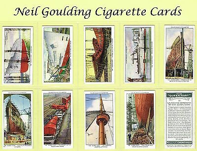 Churchman - The Queen Mary 1936 #1 to #50 Cigarette Cards