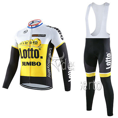 NEW jersey and short LOTTO JUMBO 2016 TOUR DE FRANCE WINTER all sizes