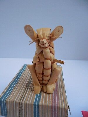 """Vintage Mouse Rat Japanese Straw Figurine In Box 2 1/4"""""""
