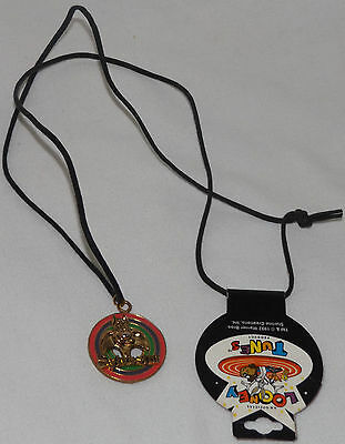 Warner Bros Looney Tunes Sylvester Cat Charm on Cord Necklace w/tag