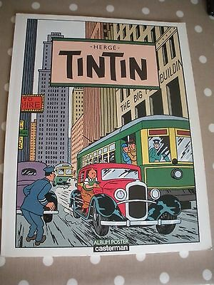 Tintin Album Poster Book. Casterman. 1986 Original French Edition.