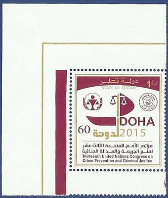 QATAR MNH 2015 13th UNITED NATIONS CONGRESS ON CRIME PREVENTION AND CRIMINAL