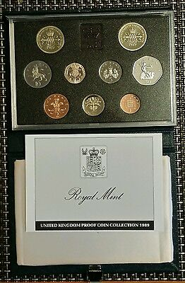 1989 united kingdom proof coin collection