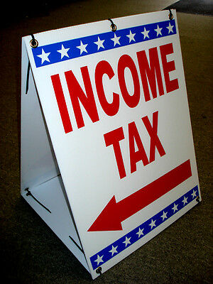 INCOME TAX Sandwich Sidewalk Board Sign 2-sided A-Frame Kit