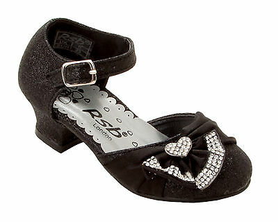 GIRLS SILVER GLITTER DIAMANTE BRIDESMAID WEDDING PARTY SANDALS SHOES SIZE 5-2