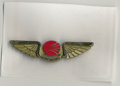 Old Vintage Continental Airlines Plastic Junior Airplane Pilot Wings Pin Taiwan