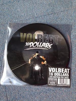Volbeat 16 dollars 7 inch picture vinyl LIMITED TO 500 NEW - box ticket promo