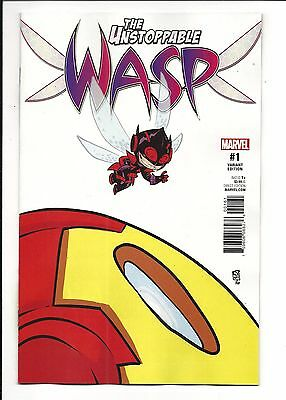 UNSTOPPABLE WASP # 1 (Marvel Now! SKOTTIE YOUNG VARIANT, MAR 2017), NM NEW