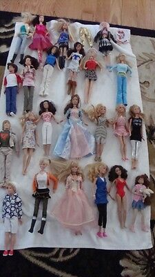 23 Barbie Dolls ~ 3 Male ~ 20 Female ~ With Clothes