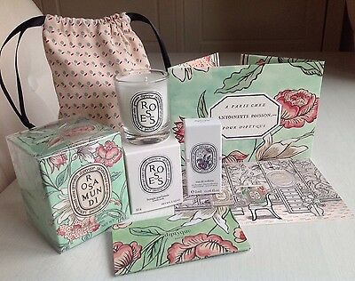 Diptyque Rosa Mundi Scented Candle Gift Set Brand New Valentine Spring 2017 LTD