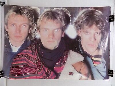 """The Police Band 1983 Vintage Poster Sting 23"""" x 34"""""""