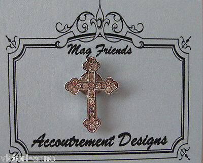 Accoutrement Designs Cross Needle Minder Brooch Magnet Mag Friends