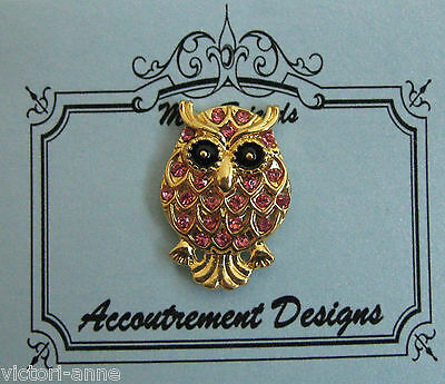 Accoutrement Designs Pink Owl Needle Minder Magnet Mag Friends #1