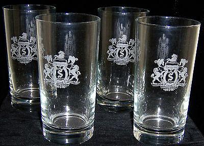 4 SCOTCH WHISKEY GLASSES 8 OZ SEAGRAM'S VO CANADIAN WHISKEY tumbler