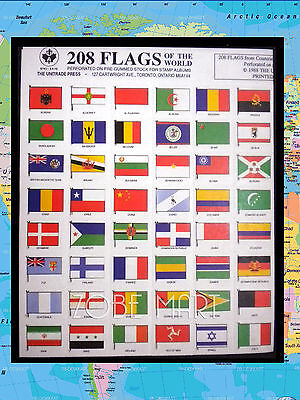 208 Flags Of The World Collection For Stamp & Coin Albums.