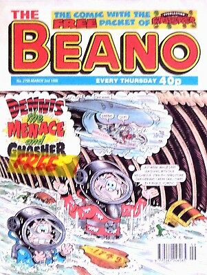 BEANO - 2nd MARCH 1996 (29 February - 6 March) RARE 21st BIRTHDAY GIFT !! FINE+