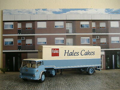 1/43 Ixo Altaya Camion Trailer Truck Bedford Tk Hales Cakes