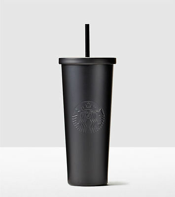 Brand New Christmas Starbucks Stainless Steel Cold Cup Matte Black Venti 24 Oz.