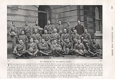 1900 BOER WAR OFFICERS OF THE 14th (KING'S) HUSSARS
