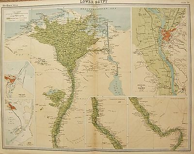 1920  Large  Map : Lower Egypt, Environs Of Cairo, Port Said, Suez