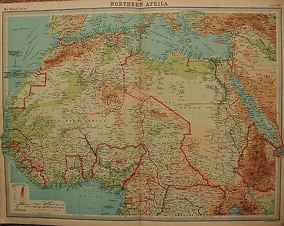 1920  Large  Map : Northern Africa