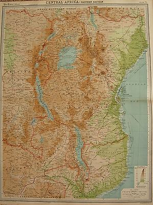 1920  Large  Map : Central Africa - Eastern Section